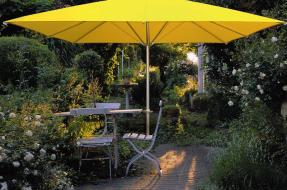 Sonnenschim - Terrassenschirm - Holzschirm